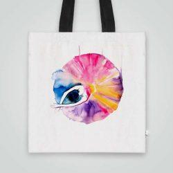 Дизайнерска чанта от плат Прелестна Балерина се шие индивидуално за вас - лека, сгъваема, разпознаваема дамска чанта или удобна чанта за пазар.