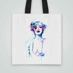 Дизайнерска чанта от плат с рисунка се шие индивидуално за вас - лека, сгъваема, разпознаваема дамска чанта или удобна чанта за пазар.