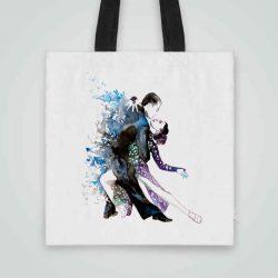 Дизайнерска чанта от плат Танго 2 се шие индивидуално за вас - лека, сгъваема, разпознаваема дамска чанта или удобна чанта за пазар.