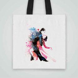 Дизайнерска чанта от плат Танго се шие индивидуално за вас - лека, сгъваема, разпознаваема дамска чанта или удобна чанта за пазар.