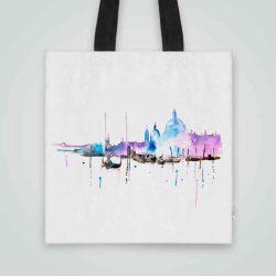 Дизайнерска чанта от плат Венеция 2 се шие индивидуално за вас - лека, сгъваема, разпознаваема дамска чанта или удобна чанта за пазар.