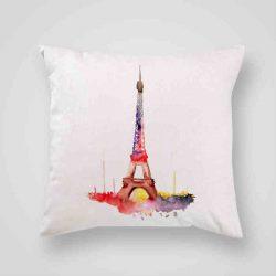 Декоративна калъфка Айфеловата Кула 3 е изработена от качествен текстил в натурален бял цвят, с щампа от едната страна и скрит цип за лесна поддръжка. Калъфката е ушита ръчно и с грижа, печатът е безопасен, с нетоксични мастила и трайни цветове.