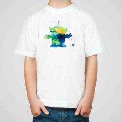 Детска тениска Извънземно е изработена от висококачествен памук и последно поколение технология на печат. Можете да изберете тениска с принт по ваш вкус от от различните ни тематични серии.