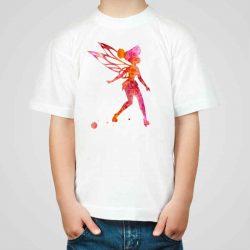 Детска тениска Малката Фея е изработена от висококачествен памук и последно поколение технология на печат. Можете да изберете тениска с принт по ваш вкус от от различните ни тематични серии.
