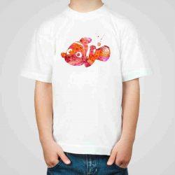 Детска тениска Немо е изработена от висококачествен памук и последно поколение технология на печат. Можете да изберете тениска с принт по ваш вкус от от различните ни тематични серии.
