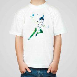 Детска тениска Питър Пан е изработена от висококачествен памук и последно поколение технология на печат. Можете да изберете тениска с принт по ваш вкус от от различните ни тематични серии.