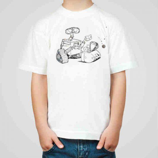 Детска тениска Уол-И е изработена от висококачествен памук и последно поколение технология на печат. Можете да изберете тениска с принт по ваш вкус от от различните ни тематични серии.