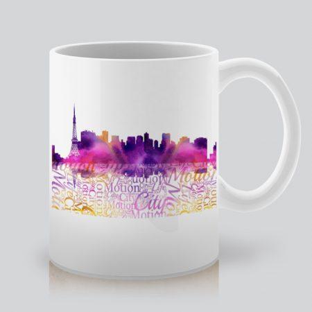 Чаша с щампа пейзаж