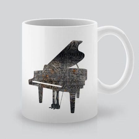 Чаша с щампа Пиано