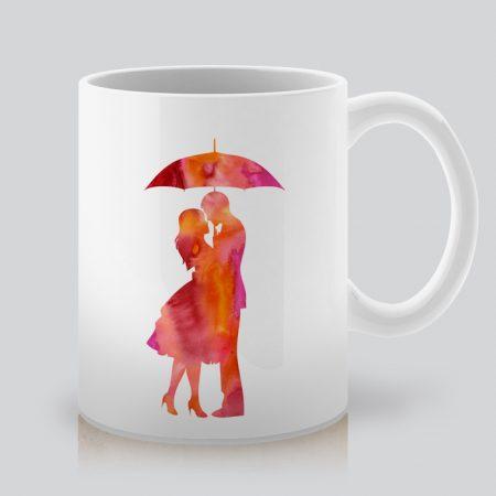 Чаша с романтична щампа