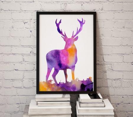 Арт постер Красив елен