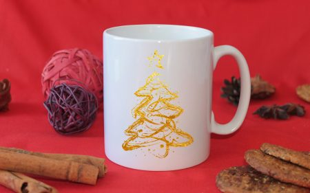 Коледна чаша Златна елха